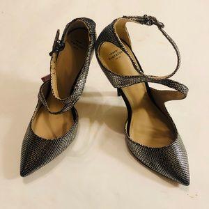 NEW! Zara Trafaluc Silver Metallic Pointed Toe
